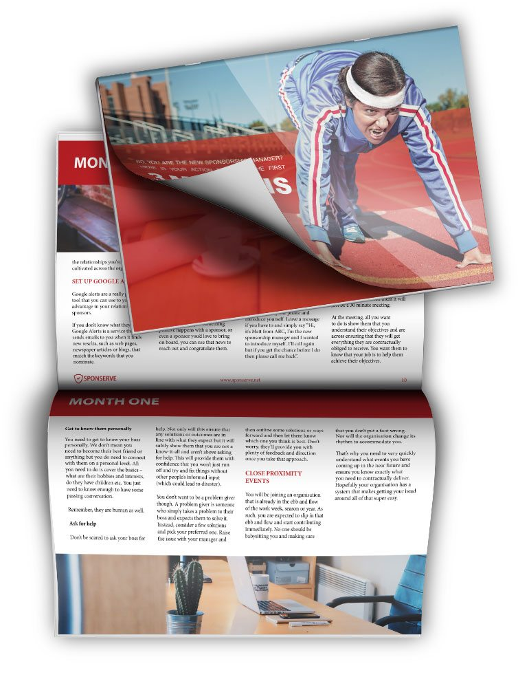 SponServe new sponsorship manager ebook mockup